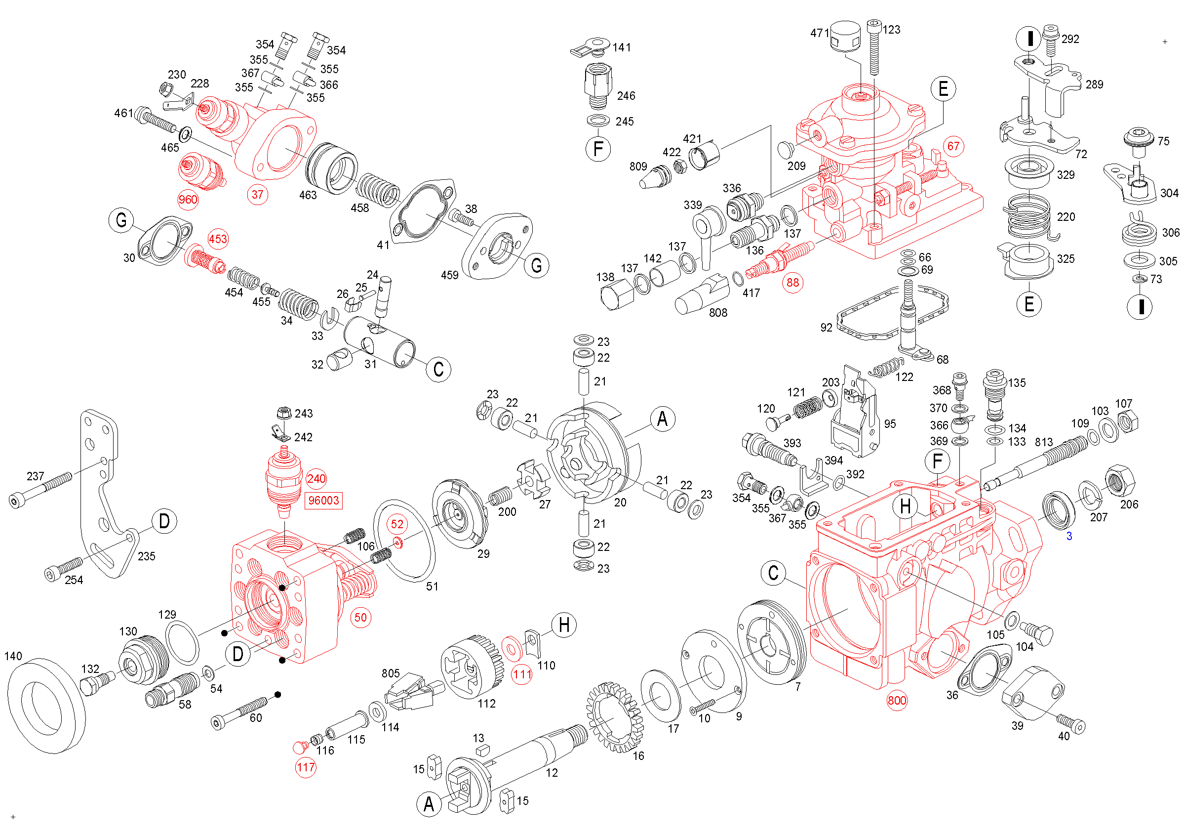 0 460 426 369, Fuel distributor injection pump BOSCH VE series, 0460426369