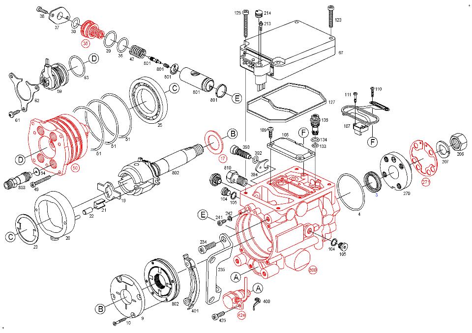 0470504002 0 470 504 002, fuel distributor injection pump bosch vp44, vp29 30